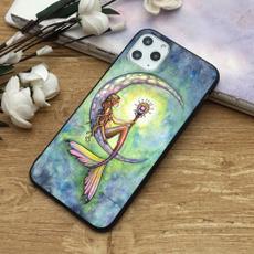 case, cute, mermaid, Flowers
