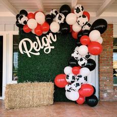 cow, Garland, Farm, Balloon