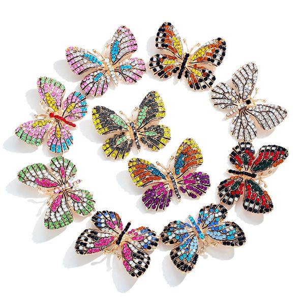 butterfly, fashionbrooch, starfishbrooch, Colorful