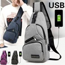 Shoulder Bags, Fashion, Canvas, usb