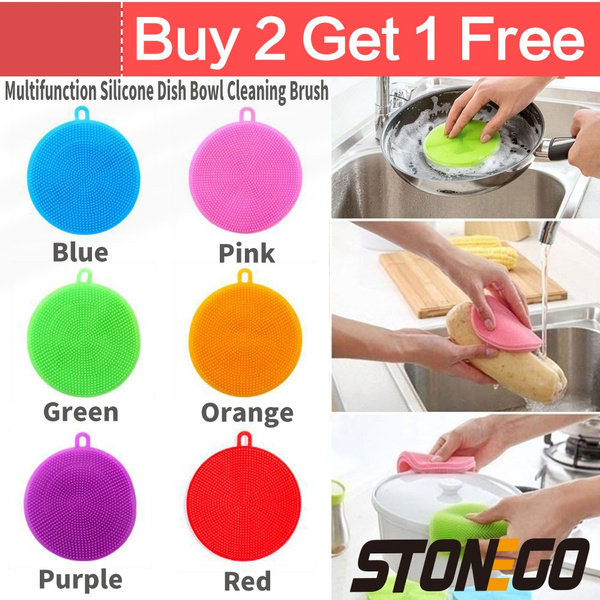 dishscrubber, Kitchen & Dining, Silicone, multifunctionalcleaningtool