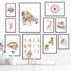 watercolor, Decor, art, Office