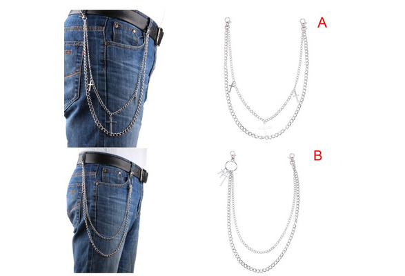 38cm Long Wallet Belt Chain Trousers Hipster Pant Jean Keychain Jewelry ARY