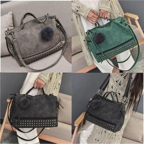 Shoulder Bags, Messenger Bags, leather, Vintage