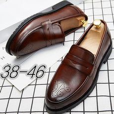 casual shoes, mensleatherslipon, leather, Dress