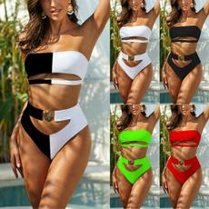 Summer, two piece swimsuit, women beachwear, bikini set