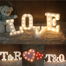 Indoor, led, Romantic, alphabetlamp