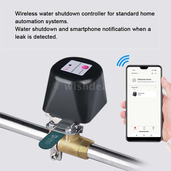SNOWINSPRING Valve Smart Water//Gas Valve Smart Home Automation Control Work with Alexa Assistant,IFTTT Power by Tuya UK Plug