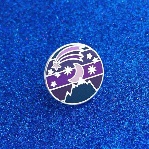 lapel, Gifts, enamel, purple