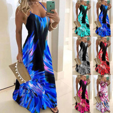Summer, printeddres, Halter, Dress