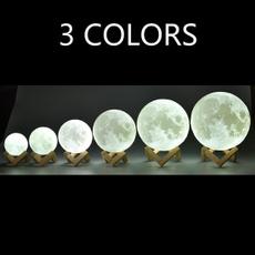 3dmoonlamp, Table Lamps, Home Decor, desklight