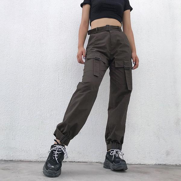Summer, trousers, Cotton, Waist