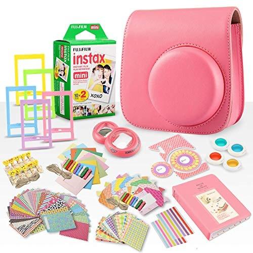 pink, Mini, flamingo, Film Cameras
