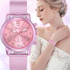 pink, dial, Fashion, classic watch