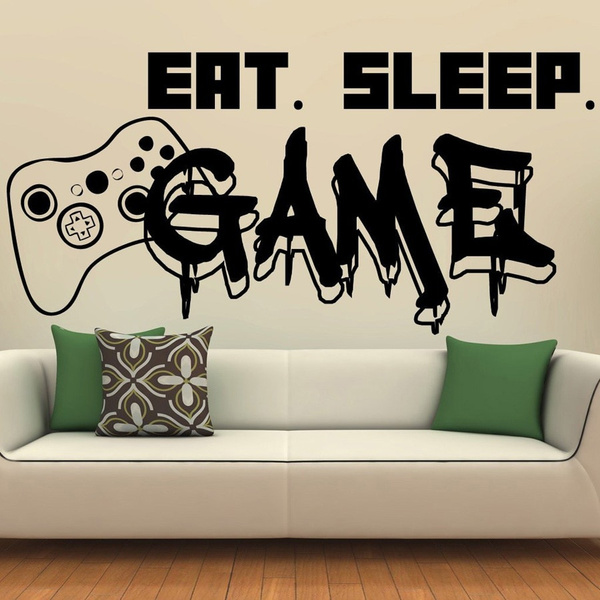 Game Controller Wall Decal Wall Decals Decal Wall Art Removable Vinyl Wall Decals
