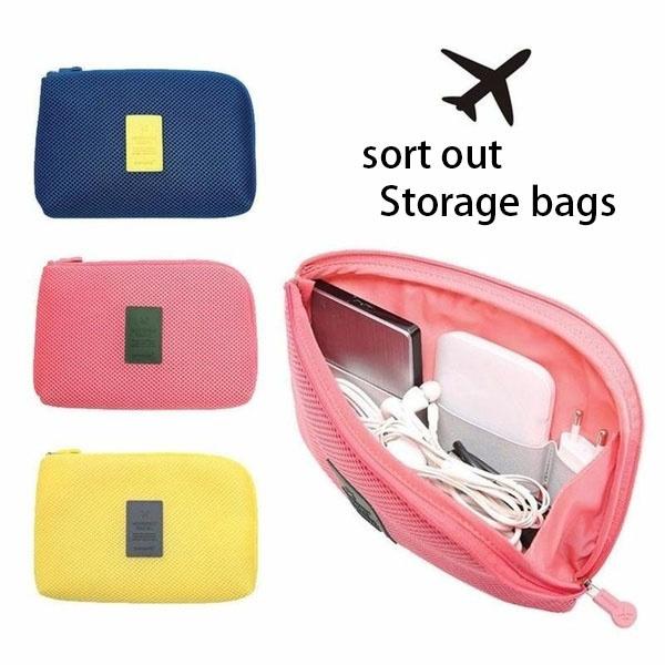 travelstoragebag, Phone, Mobile, mobilephonechargingdatacablestorageorganizerbag