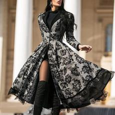 lace dresses, Plus Size, Coat, Encaje