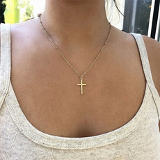 Chain, gold, Simple, necklace for women