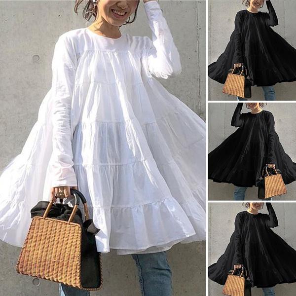 Mini, Swing dress, Plus Size, ruffle