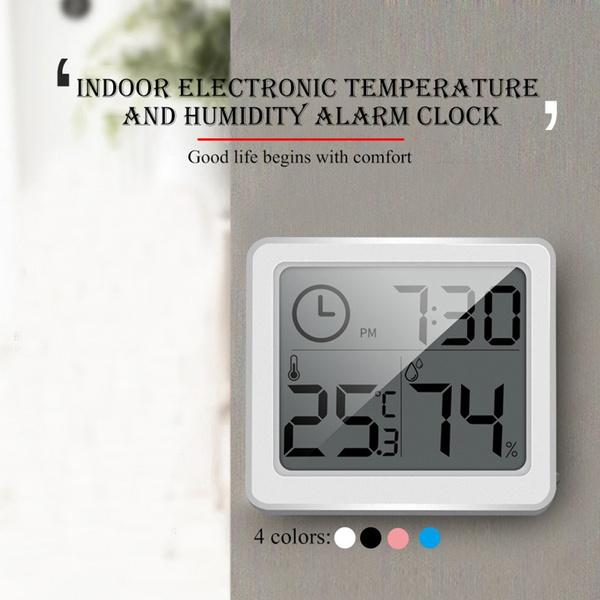 electronicclock, ultrathindigitalhygrometer, withtimedisplay, Indoor