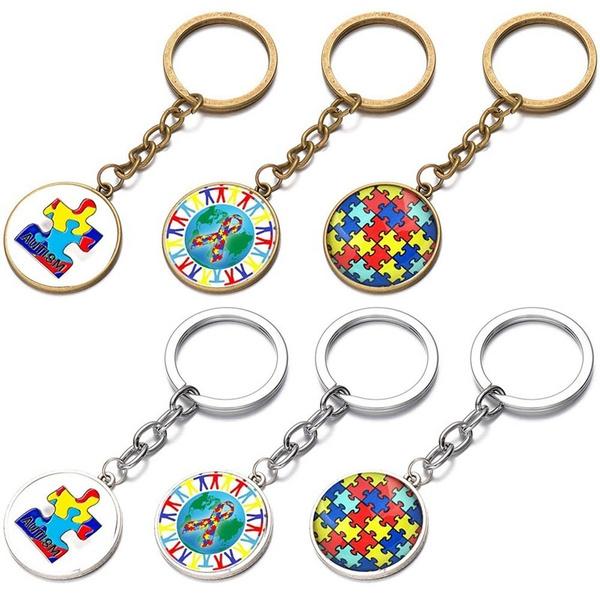 autismjewelry, Key Chain, Jewelry, puzzlekeychain