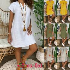 sleeve v-neck, Plus Size, Sleeve, Dresses