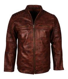 herrenlederjacke, motorcyclejacket, caferacerjacket, brown