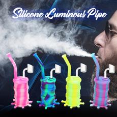 Mini, dryherbgrinder, Silicone, glass pipe