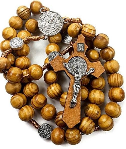 rosarybead, Wood, medals, rosary