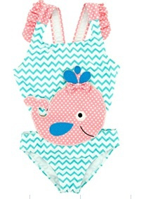 Get Wivvit Baby Girls Goldfish Spot Swimming Costume Toddler Swimsuit Sizes from 3 Months to 1.5 Years