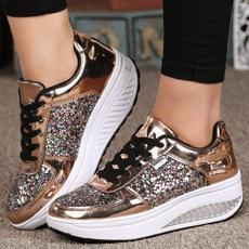 wedge, walking, Fashion, gold