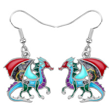 Fashion, dinosaurearring, Earring, Women's Fashion