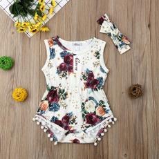 Summer, Fashion, Floral, jumpsuitromper