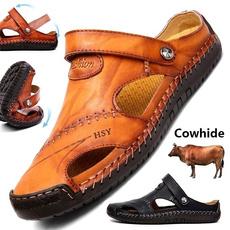 Fashion, Sandals, leather shoes, men's fashion shoes