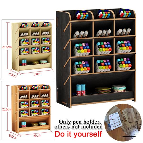 Box, pencilmarkerholder, brown, Storage