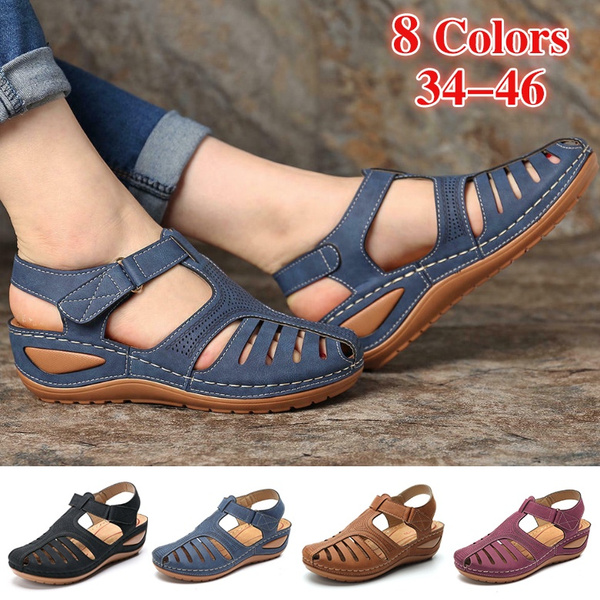 beach shoes, Sandals, Summer, leather