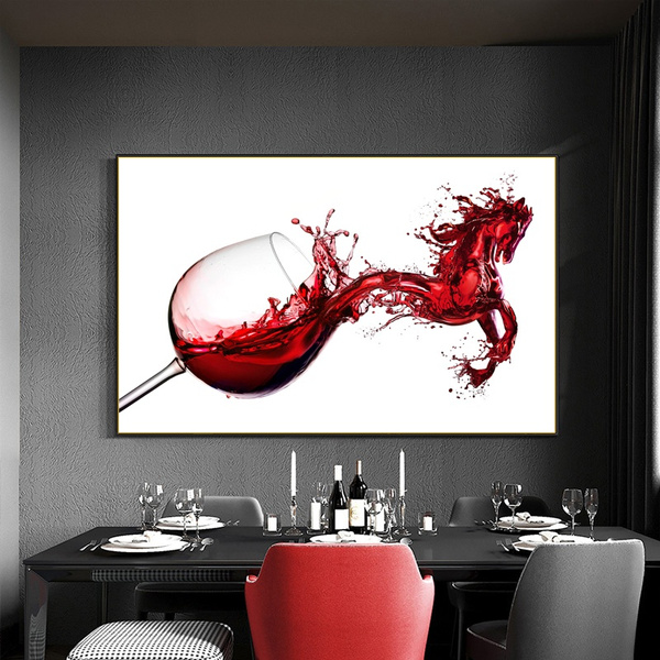 Canvas Painting Home Decor Wall, Dining Room Posters And Prints