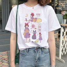 Tops & Tees, white shirt, Cotton T Shirt, My neighbor totoro