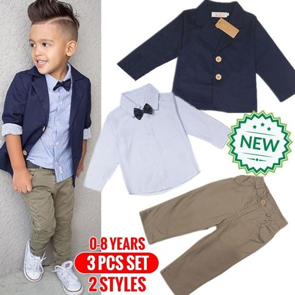 Fashion, pants, Long sleeved, boysuitsset