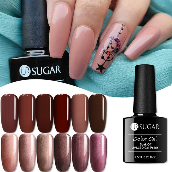 nailgelpolish, coffeecolorgel, nail tips, Beauty