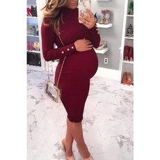 Plus Size, Winter, Elastic, pregnant