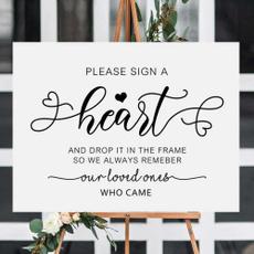 Heart, rusticweddingsign, receptionsign, pleasesignaheartprint