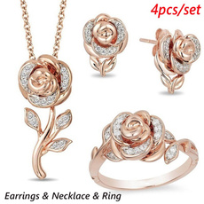 Fashion, zirconring, gold, rosegoldplated