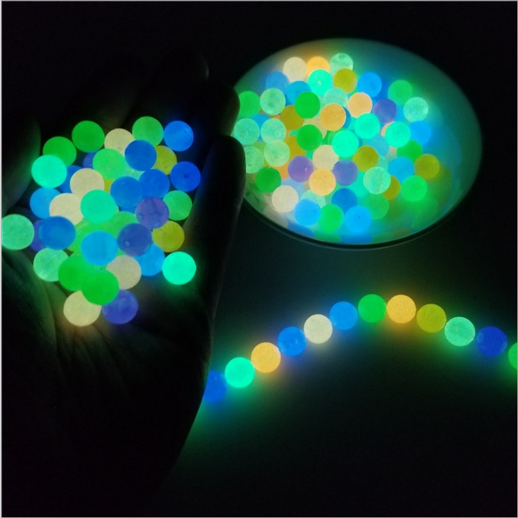 10PCS  DIY Glow In The Dark Fishing Loose Beads Luminous Necklace Jewelry Making