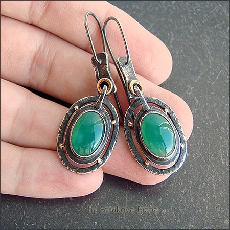 Sterling, Turquoise, Hoop Earring, Jewelry