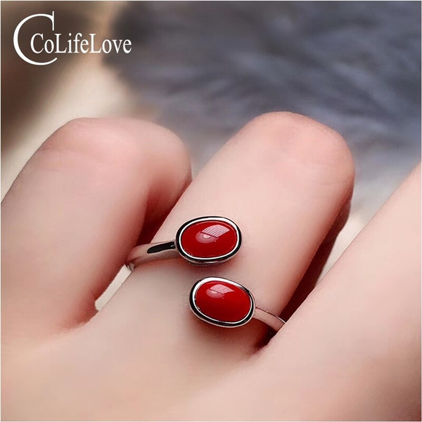 925silvercoralring, realcoralring, redcoral, Jewelry