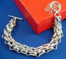 Sterling, Chain bracelet, sterling silver bangle bracelet, Jewelry