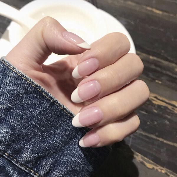 pink, Medium, manicure, Beauty