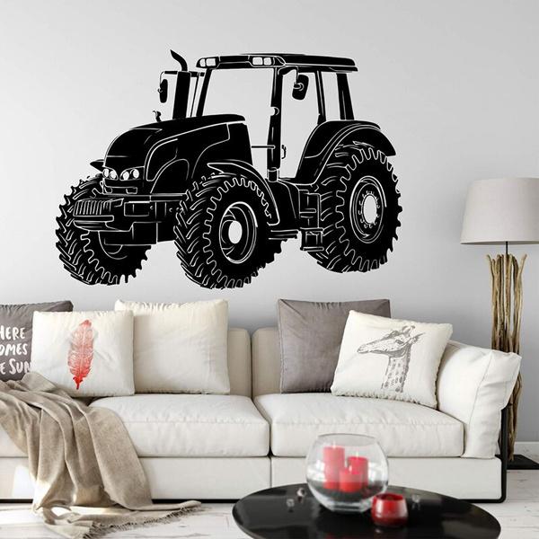 boysroomdecoration, art, wandaufkleber, tractortruck