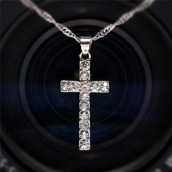Steel, faith, Fashion, Cross necklace